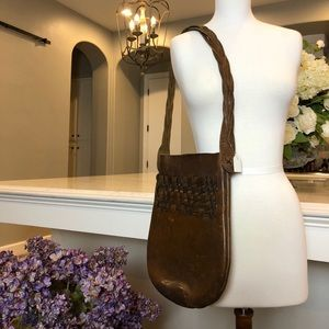 1970's Vintage Genuine Leather Shoulder Bag